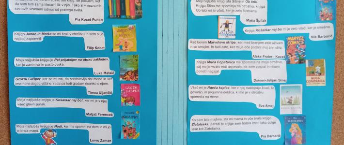 Svetovni dan knjige na Osnovni šoli Kobilje