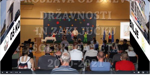 Proslava ob dnevu državnosti in zaključku šolskega leta 2020-2021 – posnetek
